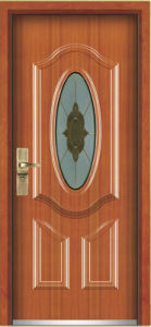 Steel Wooden Armored Door (YF-G9017) pictures & photos
