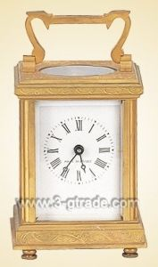 Gilded Copper Carriage Clock (JGKF02A)