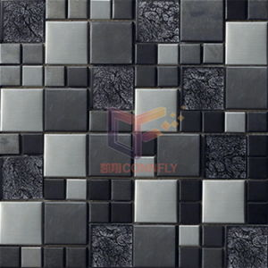 Gold Leaf Crystal Stainless Steel Metal Mosaic (CFM713) pictures & photos
