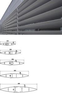 New Design Aluminum Airfoil Louvers pictures & photos