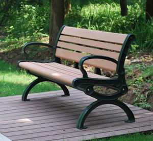 Wood Plastic Composite Products WPC Garden Bench for Park pictures & photos