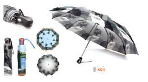 Auto Open and Close Umbrella 3 Fold for Promotion (K3210)
