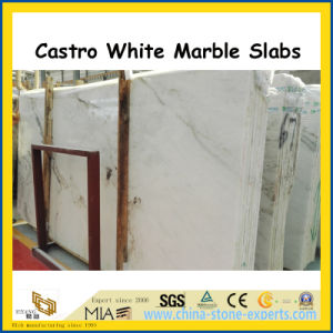Hot Product Castro White Marble Polished Slabs for Wall / Countertops pictures & photos