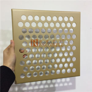 Aluminum Cladding Panels with Round Holes Perforation for Wall Cladding Use pictures & photos