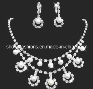 Bridal Jewelry Sets/Shiny Pearl & Crystal Fashion Jewelry Sets/ Necklace and Earrings Sets (XJW12237) pictures & photos