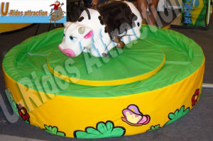 Green Round Mat Mechanical Baby Bull for Kids pictures & photos