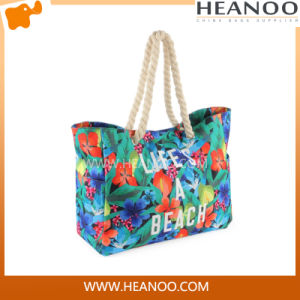 2016 New Design High Quality Ladies Fashion Canvas Beach Bag pictures & photos