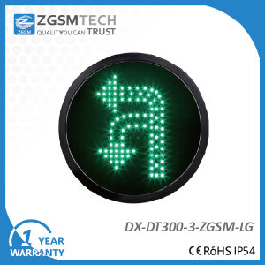 Dia. 300mm Turn Round U Turn and Turn Left Traffic Signal Green Color pictures & photos
