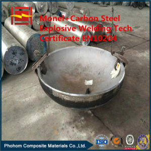 Explosive Cladding SUS304 Steel SA516gr70 Ellipsoidal Head for Pressure Vessel pictures & photos