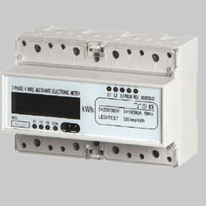 Single Phase Two Wire Active Optical Energy DIN Rail Meter pictures & photos