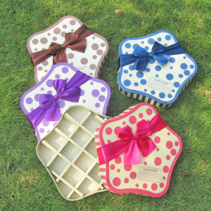 Star-Shaped Cardboard Candy Box Chocolate Box with Bowknot pictures & photos