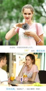 Foldable Couples Hand-Held Mini USB Mini Electric Double Fans pictures & photos