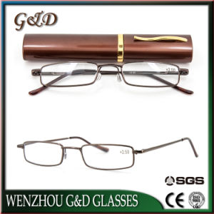 Fashion Popular Metal Frame Reading Glasses with Case pictures & photos