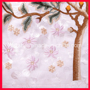 Three-Dimensional Embroidered Fabrics Velvet Embroidered Mesh pictures & photos