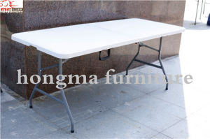New 30*72′′ Heavy Duty Plastic Folding in Half Table pictures & photos