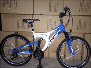 24 Inch Men′s Mountain Bike with Double Suspension (YK-MTB-077)