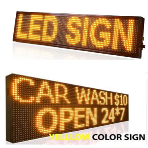 P10 DIP Outdoor Single Yellow LED Panel 320*160 mm for Moving LED Display Screen pictures & photos