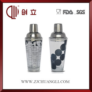 400ml Stainless Steel and Glass Cocktail Shaker