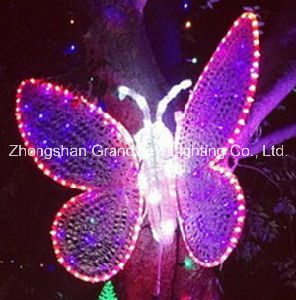 LED Pink Butterfly 3D Motif Christmas Decor Lights pictures & photos