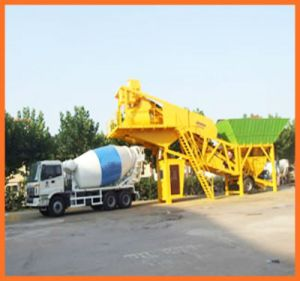 Mobile (YHZS40) Concrete Mixing Plant 40cbm/H pictures & photos