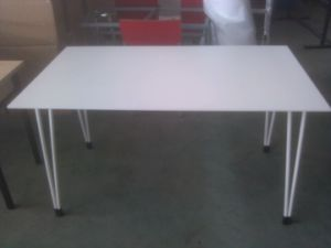 High Quality Modern Design Stainless Steel Rectangular Dining Table pictures & photos
