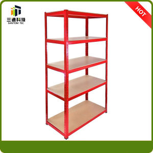Red Powder Coat Garage Shelf, Storage Steel Shelving pictures & photos