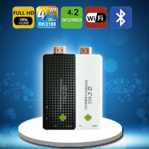 QC802 1.6GHz 2g RAM+8g Nand Android4.2 Quad Core Rk3188 Smart TV Dongle
