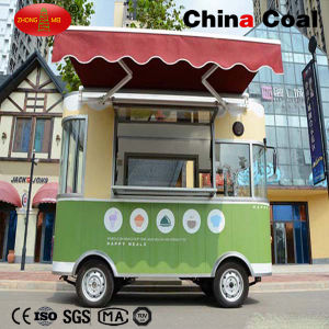 Green Electric Mobile Food Vending Cart pictures & photos