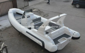 7.5m Rib Boat Rigid Hull Fiberglass Inflatable Boat with Ce pictures & photos