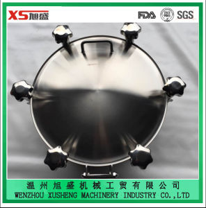 China Round Manhole Cover with Back-Side and Side-Swing Opening pictures & photos
