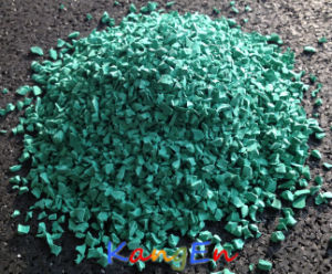 Colorful EPDM Rubber Granule (KE02 Green) pictures & photos
