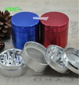 CNC Aluminium Weed Grinder 56mm 4 Parts Herb Grinder pictures & photos