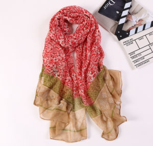 Digital Printed Cotton Voile Pashmina Lady Fashion Scarf pictures & photos