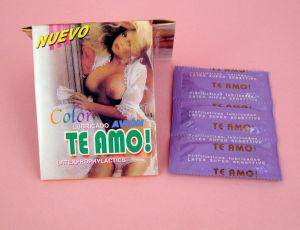 Disposable Latex Male Condom (Retangle Aluminum foil bag) pictures & photos