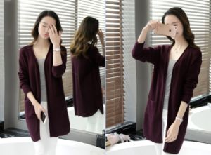 Women Long Sweater Cardigan pictures & photos