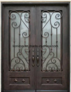 Beautiful Security Uropean Style Iron Grill Front Entry Door pictures & photos