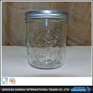 Pratical Storage Glass Mason Jar with Metal Lid pictures & photos