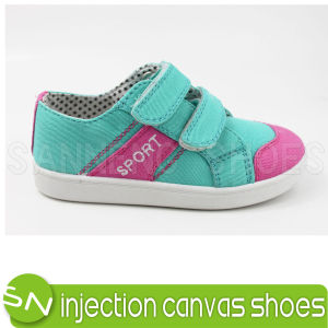 Colorful Baby/Kids Canvas Shoes with Magic Tape pictures & photos