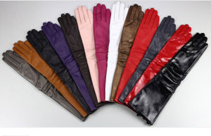 Women Leather Glove Long Style (WTS883)
