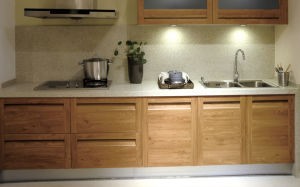 Ritz High Gloss Customized Kitchen Cabinet House Kitchen PVC Kitchen (zc-005) pictures & photos