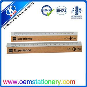 15 Cm Durable Nature Wooden Ruler