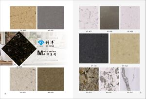 Laminated Flat Cut-to-Size Solid Surface Slab of Quartz Stone pictures & photos