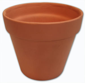 4 Sizes Terracotta Pots Without Black Board for Writing, 13-0118
