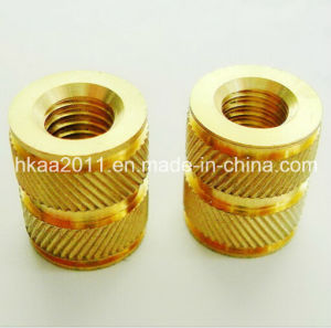 Precision Custom CNC Machining Brass Knurled Straight Insert Nuts pictures & photos