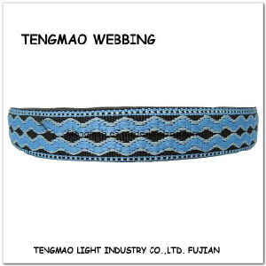 "1.25"" Navy Blue Jacquard Webbing for Textile pictures & photos"