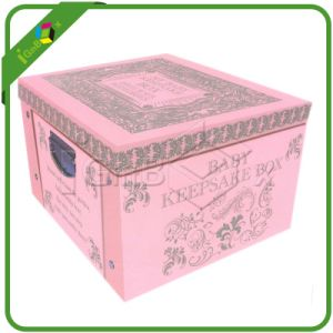 Pink Fancy Paper Cardboad Baby Gift Box with Lid pictures & photos