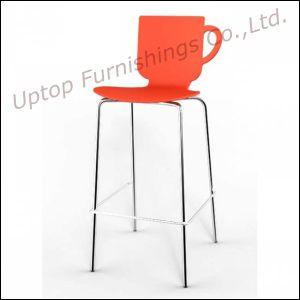 Chrome Legs Plastic High Bar Chair Bar Stools (SP-UBC278) pictures & photos