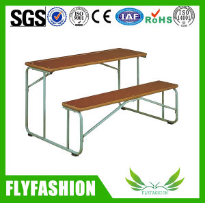 School Furniture Double Student Desk and Chair (SF-66A 1) pictures & photos