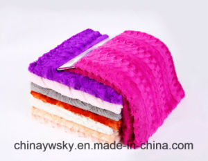 100 Polyester China Embossed Kintted PV Fleece pictures & photos
