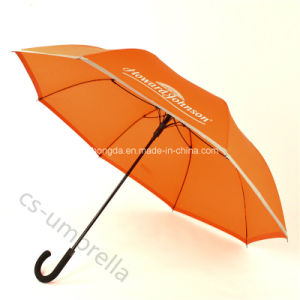 "Auto Open 23"" Black Fiberglass Advertising Umbrella for Promotion (YSS0122)"